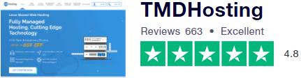 تقييم شركة تي إم دي هوستينج بحسب شركة trustpilot