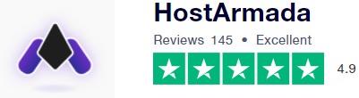 تقييم شركة هوست أرمادا بحسب trustpilot